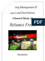 Reliance Fresh Channel Design