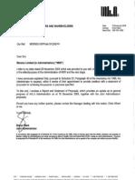 Letter to Meretec - MITL creditors