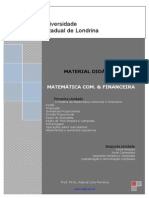 Apostila de Matemática Comercial e Financeira