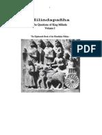 Milindapanha Vol.1