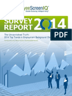 EmployeeScreenIQ Survey Results 2014