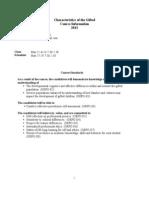 characteristics syllabus 13
