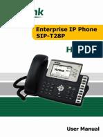Yealink Executive IP Phone SIP-T28P User Manual V1.4.1(20090821)