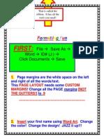 Formatting a Word Document (Autosaved)