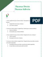 Dicurso Directo e Indirecto_FT