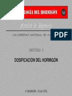 CAP TULO 3 - Dosificaci n Del Hormig n