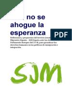 SJM Elecciones Europeas-Resumen Que No Se Ahoge La Esperanza