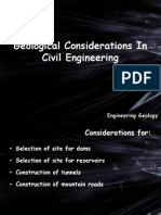 Geological Considerations in Civil Engineering