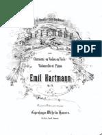 Hartmann - Serenade, Op. 24 Pour Clarinette Violoncelle Et Piano