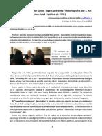 Rs. Iggers (2012) Discurso de Presentación en Chile de Historiografía s.xx