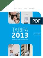Tarifa Daikin Feb 2013