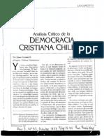 Análisis Crítico de La Democracia Cristiana Chilena