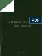 LA OBLIGACION DE ALIMENTOS ENTRE PARIENTES - ADORACION Ma PADIAL ALBÁS