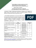 Edital - Mestrado 2014 -Versão 15 de Outubro