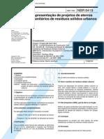 NBR 8419 NB 843 - Apresentacao de Projetos de Aterros Sanitarios de Residuos Solidos Urbanos