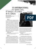 URRIAGO, Baldomero Sanin Cano, El Critico Internacional