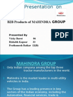 B2B Aspects of Mahindra Group