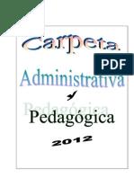 Carpeta Administrativa y Pedagógica