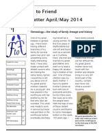 Friend to Friend Newsletter April/May 2014