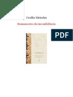 Cecília Meireles - Romanceiro Da Inconfidência [Rev]