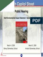 South Capitol Street DEIS Public Hearing Presentation - March 2008