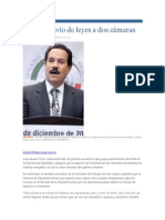 02-05-2014 El Universal.mx - Critican envío de leyes a dos cámaras..