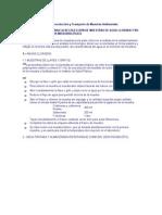 Especificaciones Para La Recolección de Muestras de Agua Clorada y No Clorada Para Análisis Microbiológico