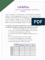 Advérbios - Comparativo dos Adjectivos Bom, Boa, Mau,Má e dos Advérbios Bem,Mal