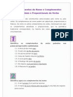 Complementos Do Nome e Complementos Adverbiais e Preposicionais Do Verbo