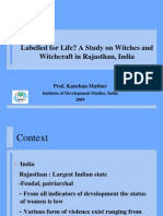 A Study on Witches in Rajasthan