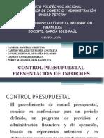 Control Presupuestal y Presentacion de Informes