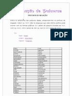 Formação de palavras - Prefixos de Negação
