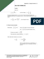 Analysis Formulae
