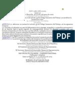 LEY 1280 de 2009 Se Adiciona El Numeral 10 Del Artículo 57 Del Código Sustantivo Del Trabajo y Se