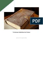 Verbotene Schriften Der Ketzer