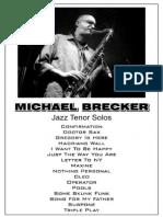 Michael Brecker - Jazz Tenor Solos