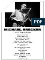Michael Brecker - Jazz Tenor Solos
