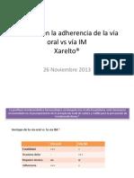 Impacto en la adherencia de la vía oral vs IM 23nov13