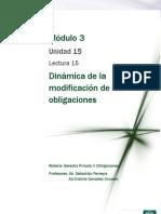 Lectura 15 - Dinámica de la modificación de las obligaciones.pdf
