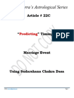 Article # 22C -- Predicting Timing of Marriage Event Using Sudarshana Chakra Dasa
