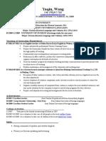 yaqin wang resume