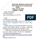 Professionals, Business Owners Happy Hour July 18, 2014