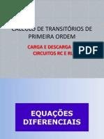 Cálculo de Transitórios de Primeira Ordem