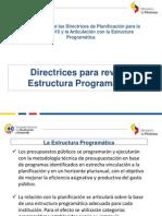 Socialización de Las Directrices Para Revisión de Programas