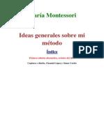 Montessori Maria - Ideas Generales Sobre Mi Metodo