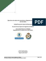 027 Ejercicios de Calculo de Reacciones y Diagramas II en Borrador