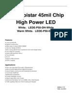 50W Epistar 45mil Chip High Power LED