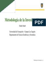 Clase 01 Metodologia