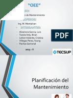 Planificacion MTTO