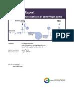 Lab Report Performance Characteristics of Centrifugal Pump